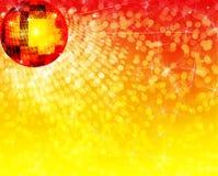 Ball for disco. Illustration ball for disco on shining background bokeh stock illustration
