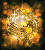 ball disco golden Στοκ φωτογραφία με δικαίωμα ελεύθερης χρήσης