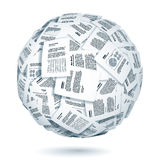 Ball of documents Stock Images