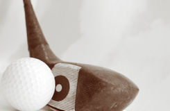 Ball and driver Royalty Free Stock Images