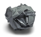 Ball Duct Tape. Grey Ball of Duck Tape  on a White Background Royalty Free Stock Image