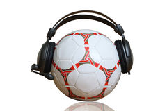 Ball and earphones Royalty Free Stock Photography