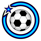 Ball emblem Stock Photo