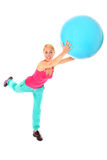 Ball exercise Royalty Free Stock Photo