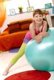 ball exercise schoolgirl Стоковое Изображение