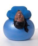 ball exercise smiling woman Στοκ εικόνα με δικαίωμα ελεύθερης χρήσης