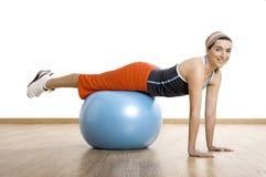 Ball exercises Royalty Free Stock Image