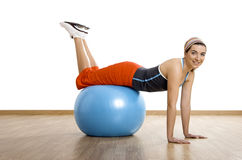 Ball exercises Royalty Free Stock Photography