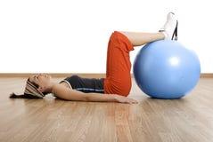 Ball exercises Stock Photos
