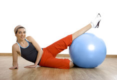 Ball exercises Royalty Free Stock Image