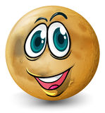 A ball with a face Royalty Free Stock Photo
