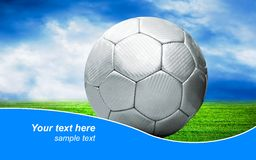 Ball on the field Royalty Free Stock Photography