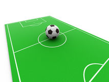 Ball on field Stock Photography