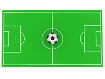Ball on field Stock Image