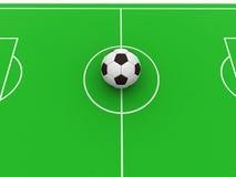 Ball on field Royalty Free Stock Photos