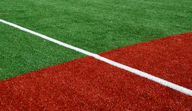 Ball Field Base Line. New Ball Field in Seattle Stock Image