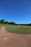 Ball Field and Blue Sky Stock Photo