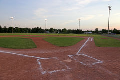 Ball Field in the Evening Stock Photo