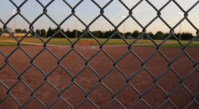Ball Field Through the Fence Royalty Free Stock Photo