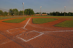 Ball Field and Golden Light Royalty Free Stock Images