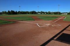 Ball Field Shadows Royalty Free Stock Photo