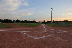 Ball Field at Sun Down Stock Photos