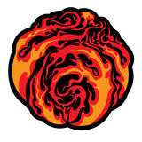 Ball of the fire. Image of the ball of the fire on white background Royalty Free Stock Photo