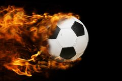 Ball on fire Stock Photo