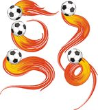 Ball With Fire Stock Images