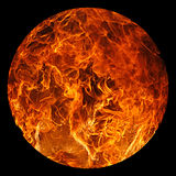 Ball of Fire. On a black background Royalty Free Stock Photos