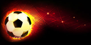 Ball and fire Stock Image
