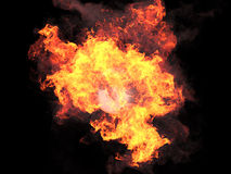 Ball in fire Stock Photography