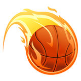 Ball on fire. Vector Illustration of Ball on fire Stock Image