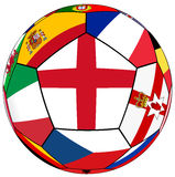 Ball with flag of England in the center Stock Images