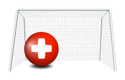 A ball with the flag of Switzerland Royalty Free Stock Photos