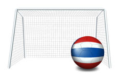 A ball with the flag of Thailand Stock Images