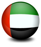 A ball with the flag of the United Arab Emirates Royalty Free Stock Image