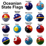 Ball Flags. Oceania State Flags - ball shape Stock Image