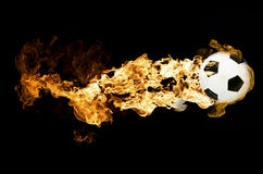 Ball in Flames Royalty Free Stock Image