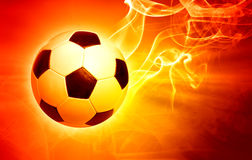 Ball in flames. Football concept; ball in flames Royalty Free Stock Photography