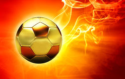 Ball in flames. Golden classic ball in flames Royalty Free Stock Photos