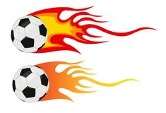 Ball with flames Royalty Free Stock Photos
