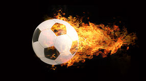 Ball in flames Stock Image
