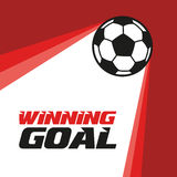 The ball flies up. Football. Soccer ball flying in the red background Royalty Free Stock Photography