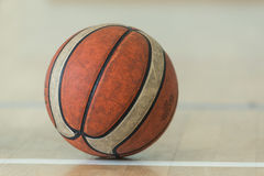A ball on the floor Stock Photos