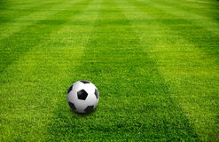 A ball on Football field Stock Photo