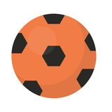 Ball football icon, flat, cartoon style. Isolated on white background. Vector illustration, clip-art. Stock Photo