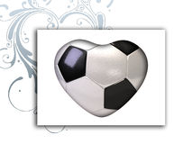 Ball for football in the shape of heart Royalty Free Stock Image