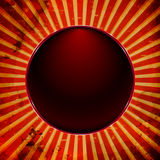 Ball frame with sun rays Royalty Free Stock Images