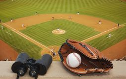 At the ball game Royalty Free Stock Photo